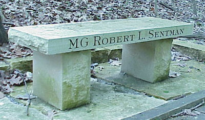 MG Robert L. Sentman Memorial Bench