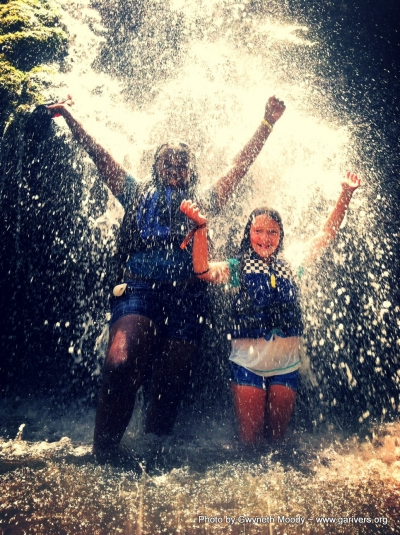 Waterfall Fun. Photo by Gwyneth Moody.