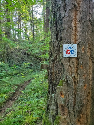 New NRT sign placed on the Middle Fork Trail.