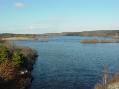 View of West Thompson Lake from the dam. Photo by US Army Corp of Engineers.
