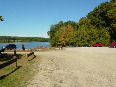 West Thompson Lake Boat Ramp Parking Lot. Photo by US Army Corp of Engineers.