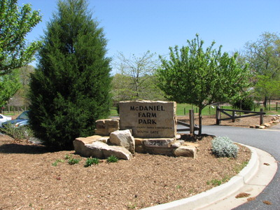 McDaniel Farm Park Entrance