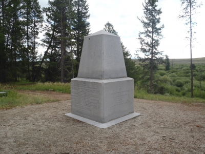 Historic monument at Big Hole National Battlefield. Photo by NPS.