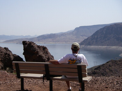 Panoramic view of Lake Mead and Boulder Basin