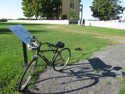 Bike and read interpretive panels along the Sacket
