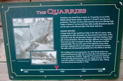 Closeup of Quarry sign.