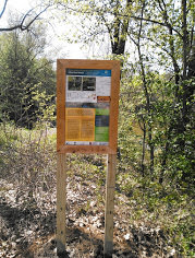 Example of one of the water trail signs