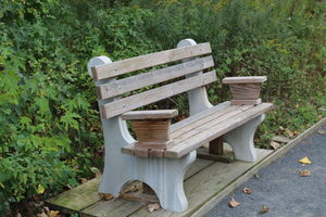 One of many accessible benches located along the trail and at the overlooks.
