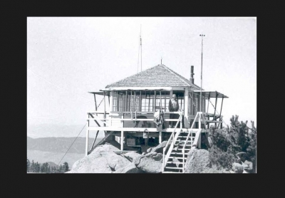 Haystack Mtn.  Lookout built in 1936. Photo by USFS.