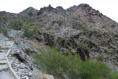 Piestewa Peak - second part of the trail. Photo by Jim Walla.