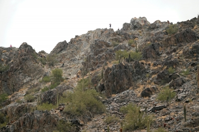 Piestewa Peak - zoom of the peak from the spot of the picture labeled