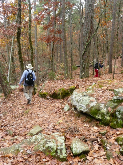 Hikers on Cedar Creek Trail. Photo by Bryan Hodges.