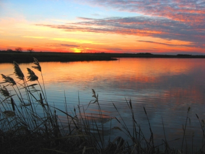 November sunset at the refuge. Photo by Gary Eslinger/USFWS.