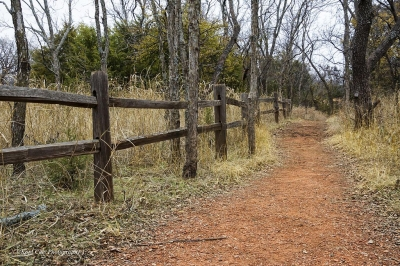 Trail in Martin Park Nature Center, Oklahoma City, OK. Photo by Kool Casts Photography.