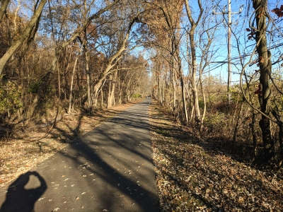 Philly to VF Bikeway - near Betzwood picnic area in Valley Forge NHP - 11-28-2017. Photo by Jim Walla.