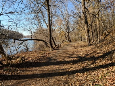 River Trail at Valley Forge NHP -  near the Betzwood picnic area - 11-28-2017. Photo by Jim Walla.