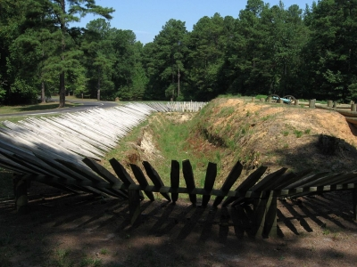 Infantry Fortifications, Petersburg National Battlefield. Photo by Ken Lund.
