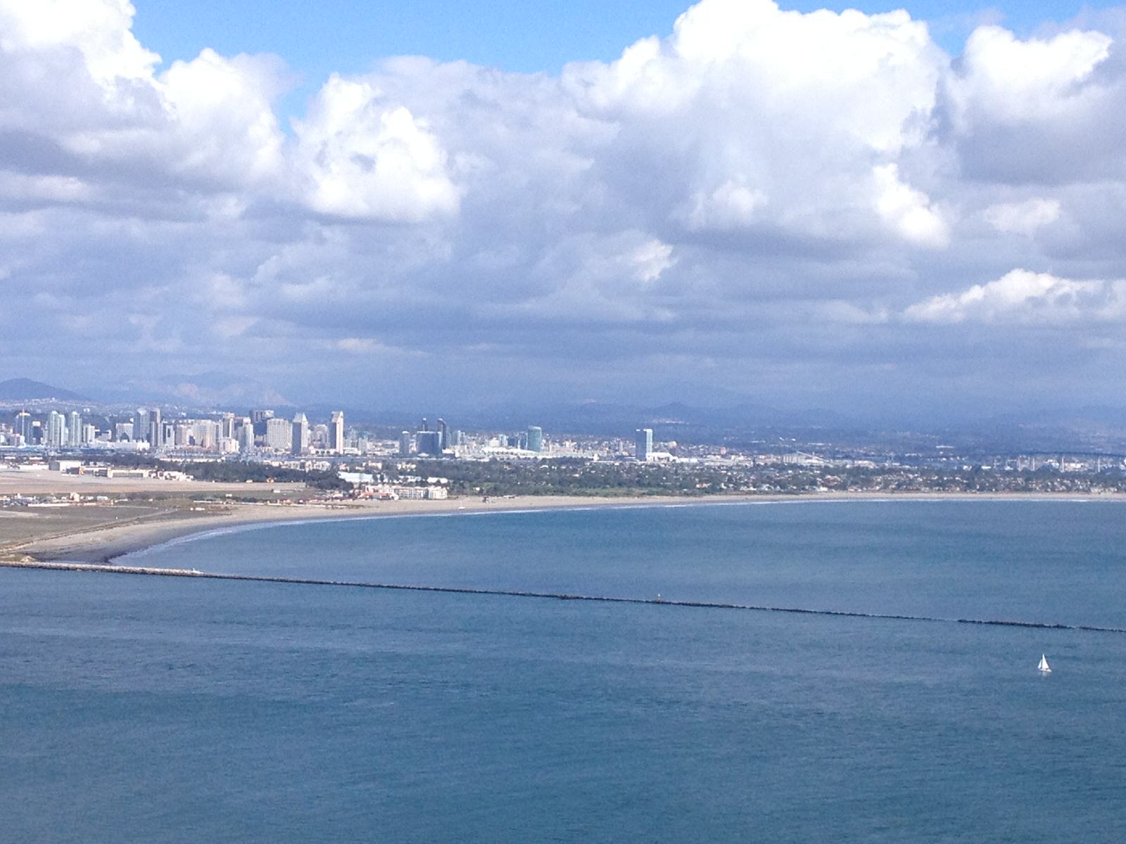 photo: San Diego Bay and Silver Strand from Point Loma Lighthouse. Photo by wiki Angspring.