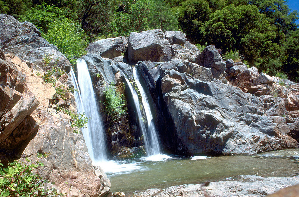 photo: A waterfall on the South Fork Yuba River in South Yuba River State Park. Photo by USACE.