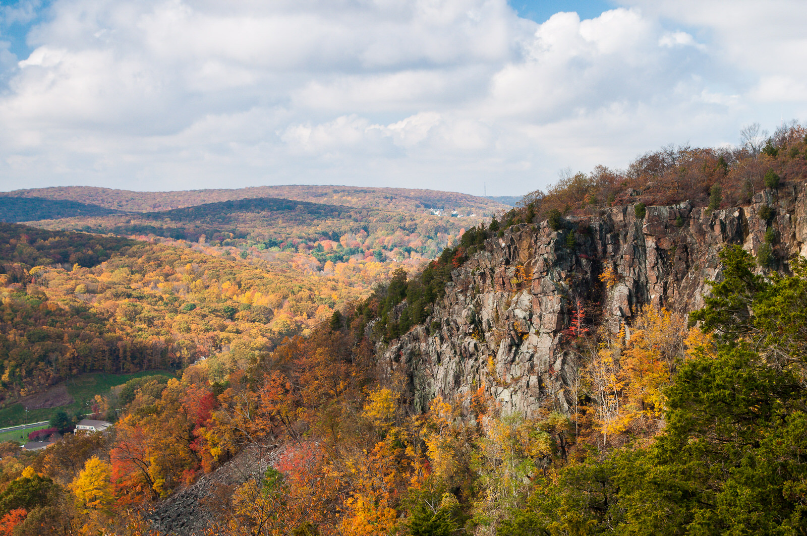 photo: Sleeping Giant rises high above the woodlands of the surrounding valley. Photo by Justin Coleman.