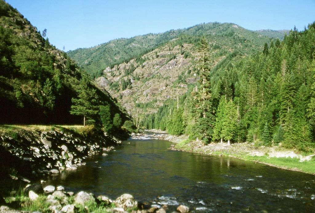 photo: Scenic view of the Lochsa River in the Clearwater Forest. Photo by Idaho Travel Council.