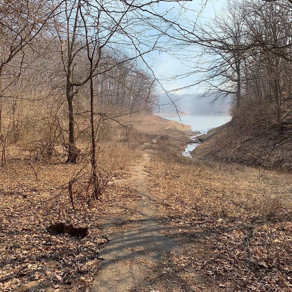 photo: Chief Illini trail near Lone point. Photo by Mike Mitchell.