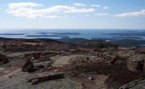 photo: VIEW FROM DORR MOUNTAIN TRAIL IN ACADIA NATIONAL PARK