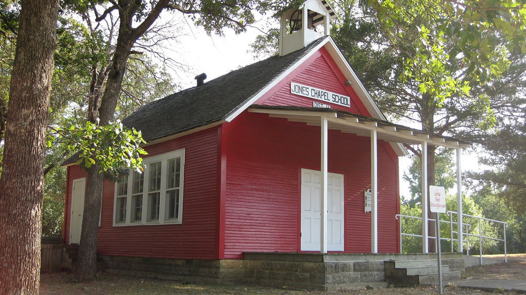 photo: Jones Chapel Schoolhouse. Photo by holt9359/wiki.