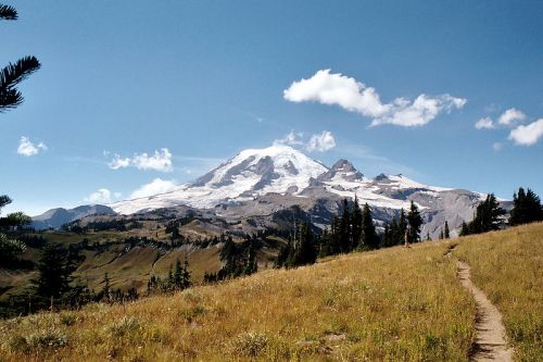 photo: Mount Rainier from the Cowlitz Divide along the Wonderland Trail