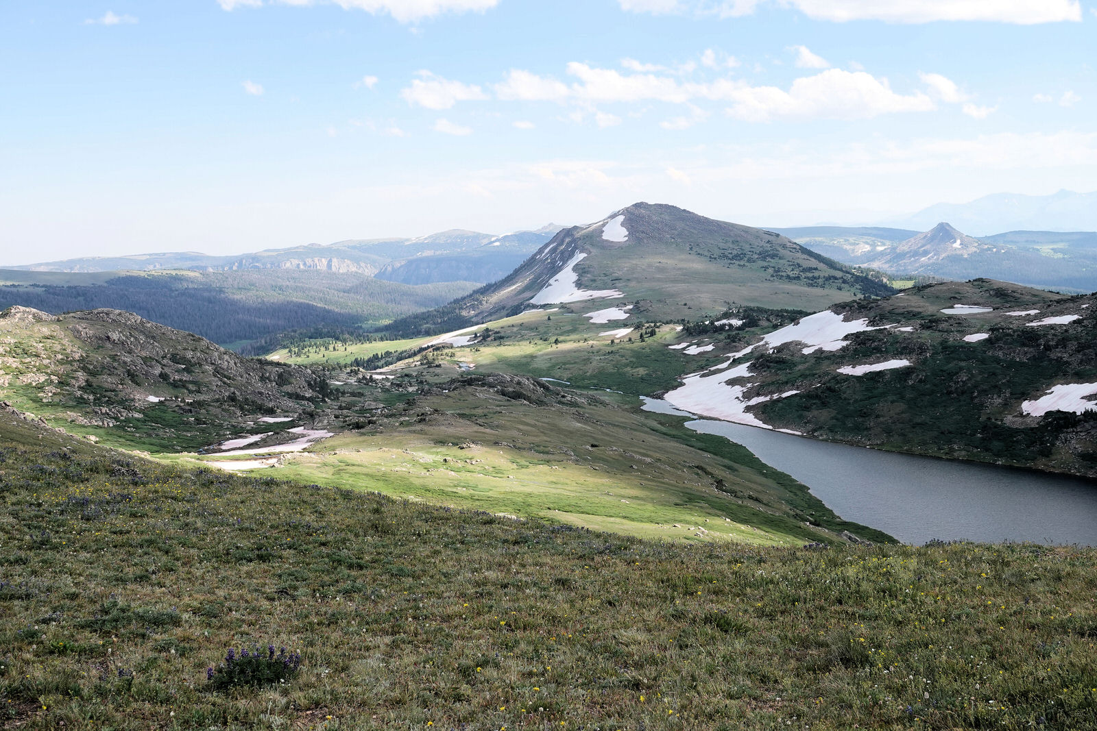 photo: Beartooth Loop - view from near the trailhead on the Beartooth Highway - 7-19-18. Photo by Jim Walla.