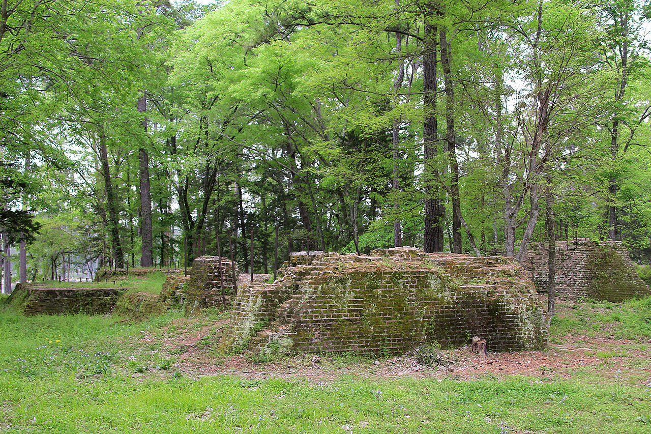 photo: The ruins of the Four C Mill, a former sawmill, in Ratcliff Lake Recreation Area, Houston County, Texas. Photo by Larry D. Moore.