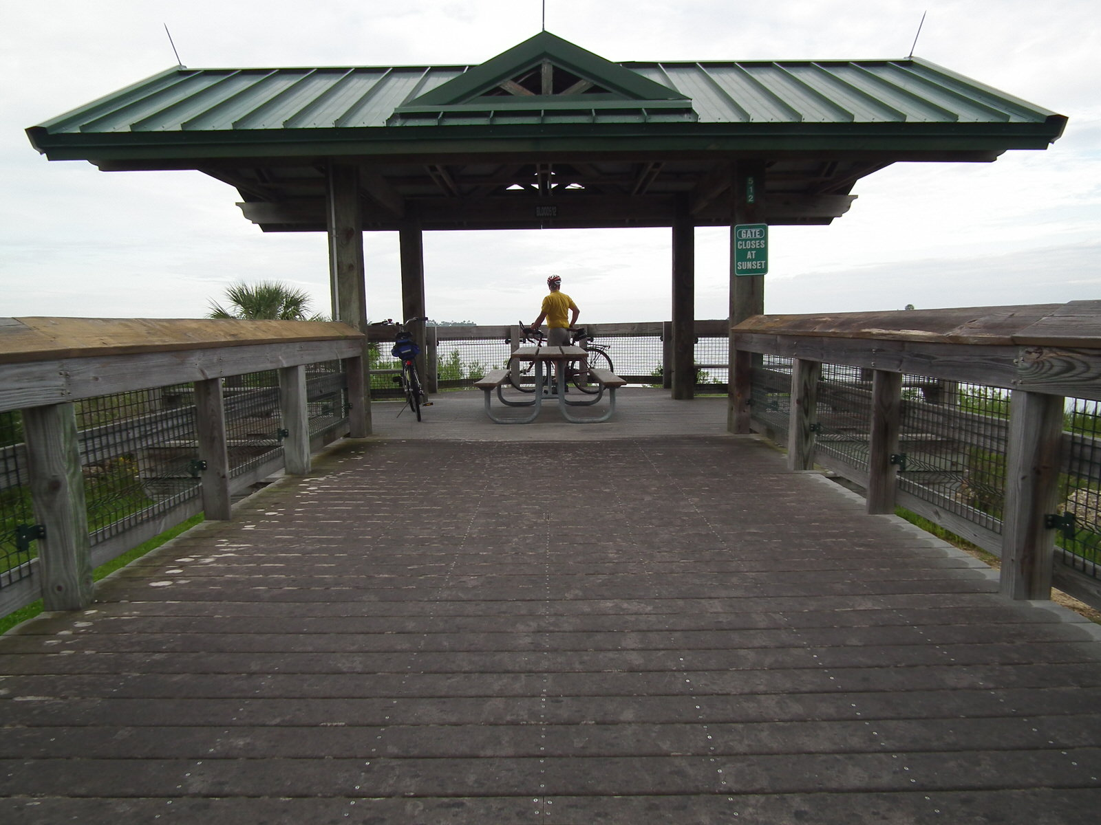 photo: The western terminus of the trail at Withlacoochee Bay on the Gulf of Mexico. Photo by Heather Nagy.
