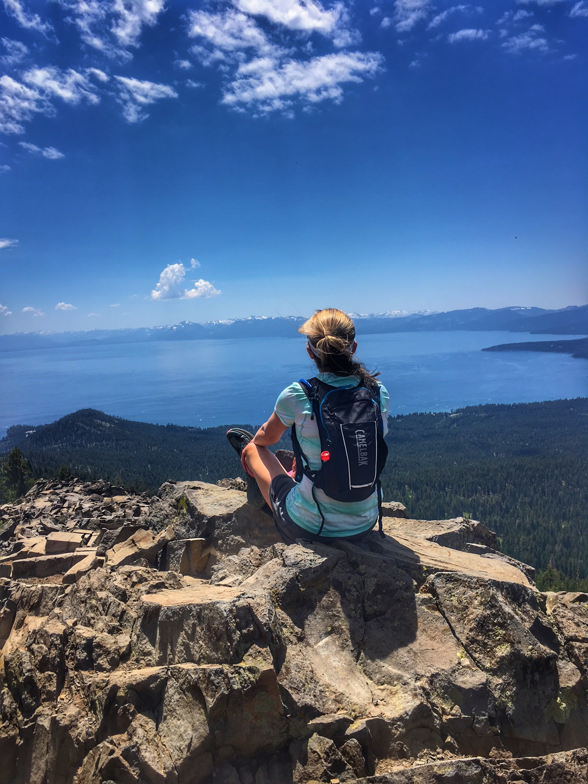 photo: Jenelle Potvin on the Tahoe Rim Trail running home to Truckee. Photo by Lucas Horan.