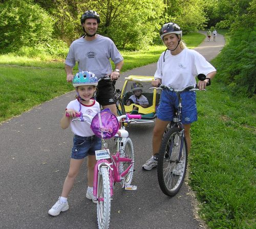 photo: Galloway Creek Greenway was the first urban trail in Missouri to be designated a National Recreation Trail.