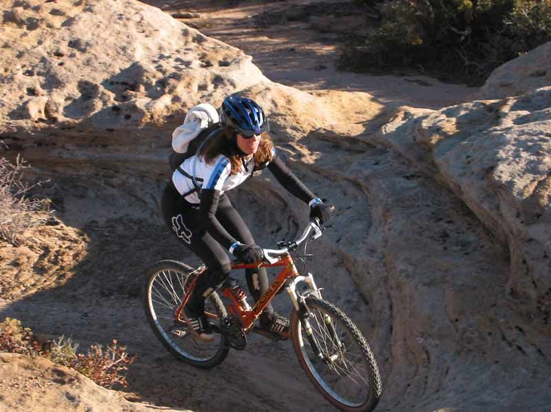 photo: Bureau of Land Management's first official mountain bike trail in Washington County, Utah
