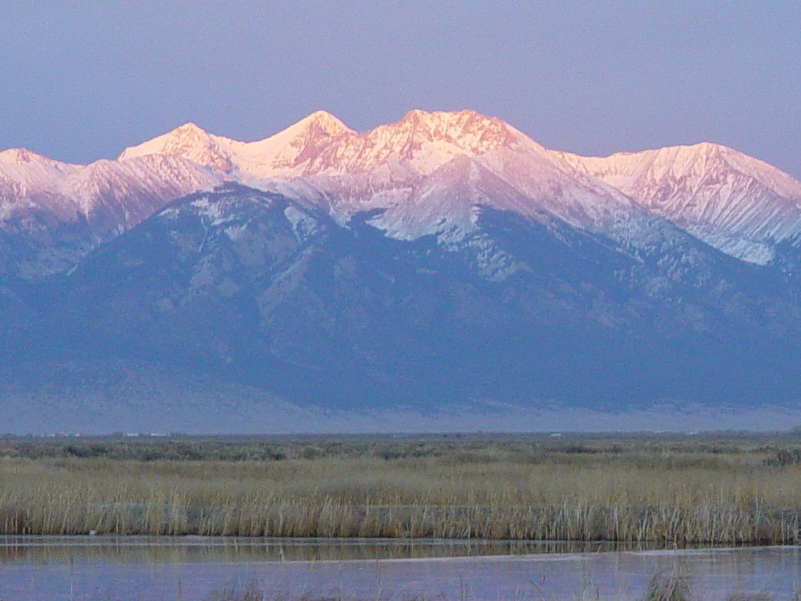 photo: Alamosa South view of Mt. Blanca. Photo by Brian DeVries.