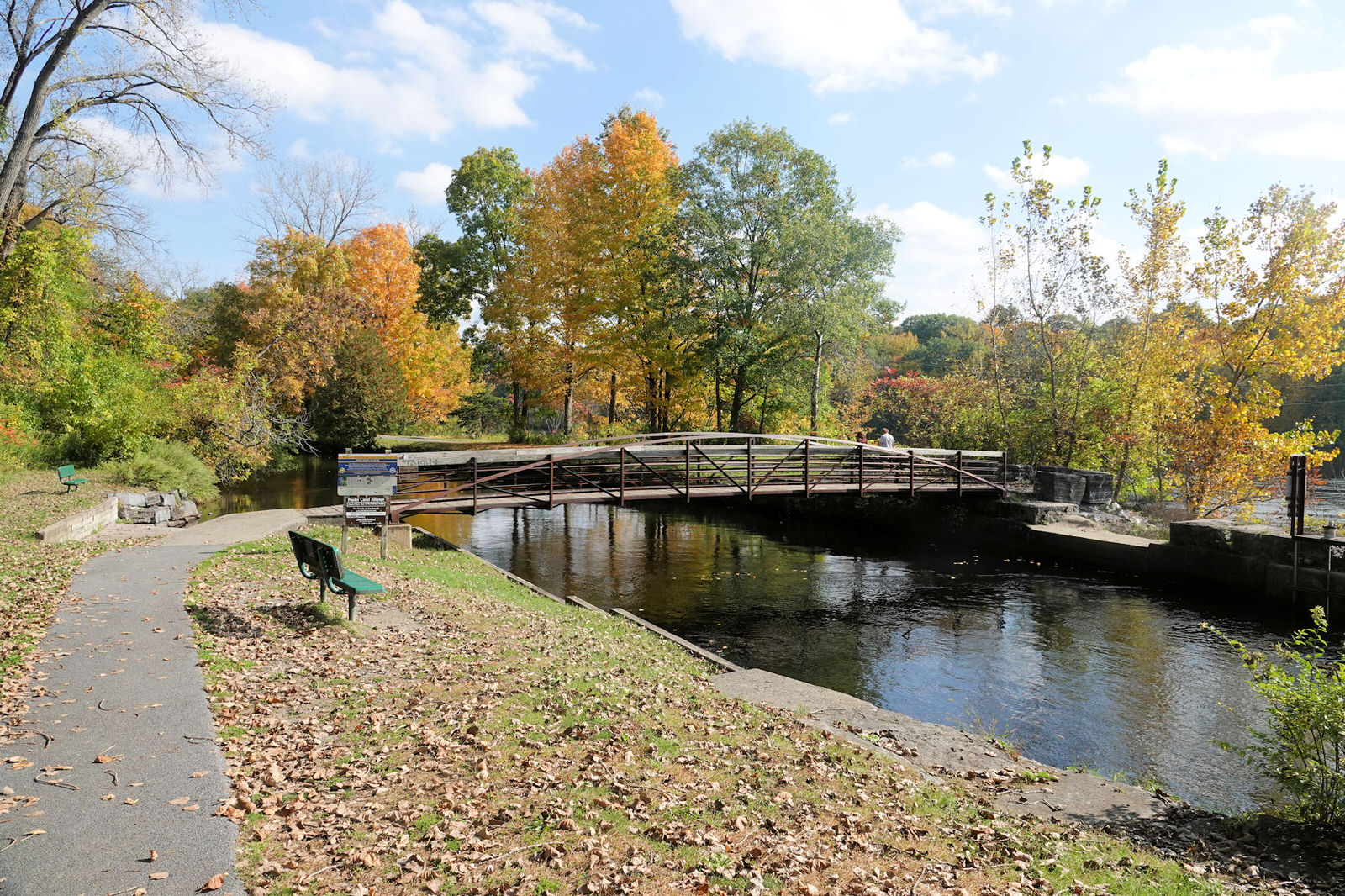 photo: Feeder Canal Towpath Trail - 10-10-2018. Photo by Jim Walla.