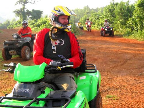 photo: Riding ATVs at Doc Hilt Trails System
