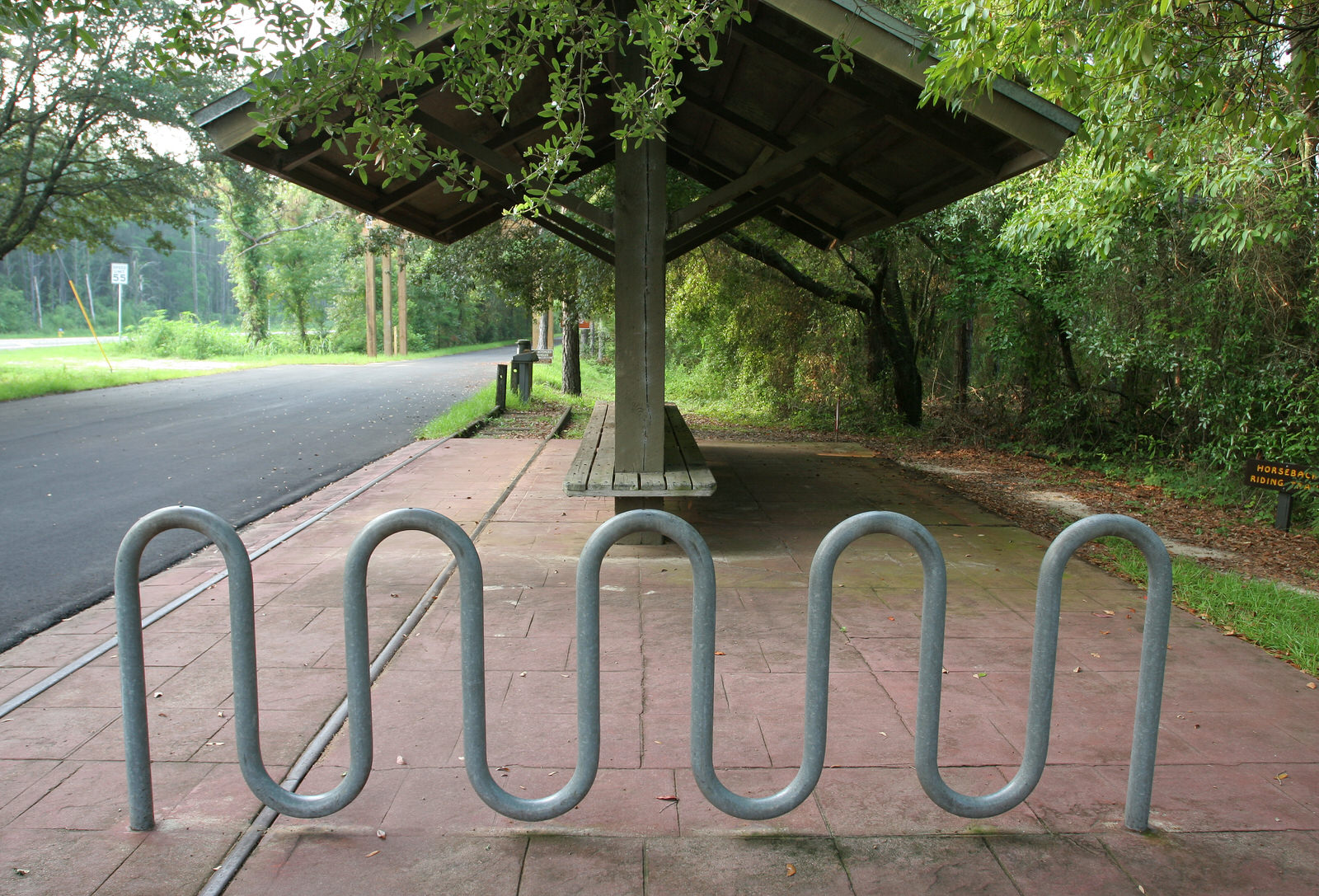 photo: Bike rack and rail section. Photo by Doug Alderson.