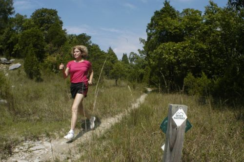 photo: Jogger On Devils Racetrack, Wade Mountain Nature Preserve