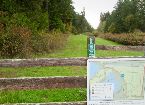 photo: Trailhead sign and website map
