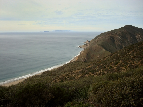 photo: Ocean view from Backbone Trail, Ray Miller Trail in Point Mugu State Park