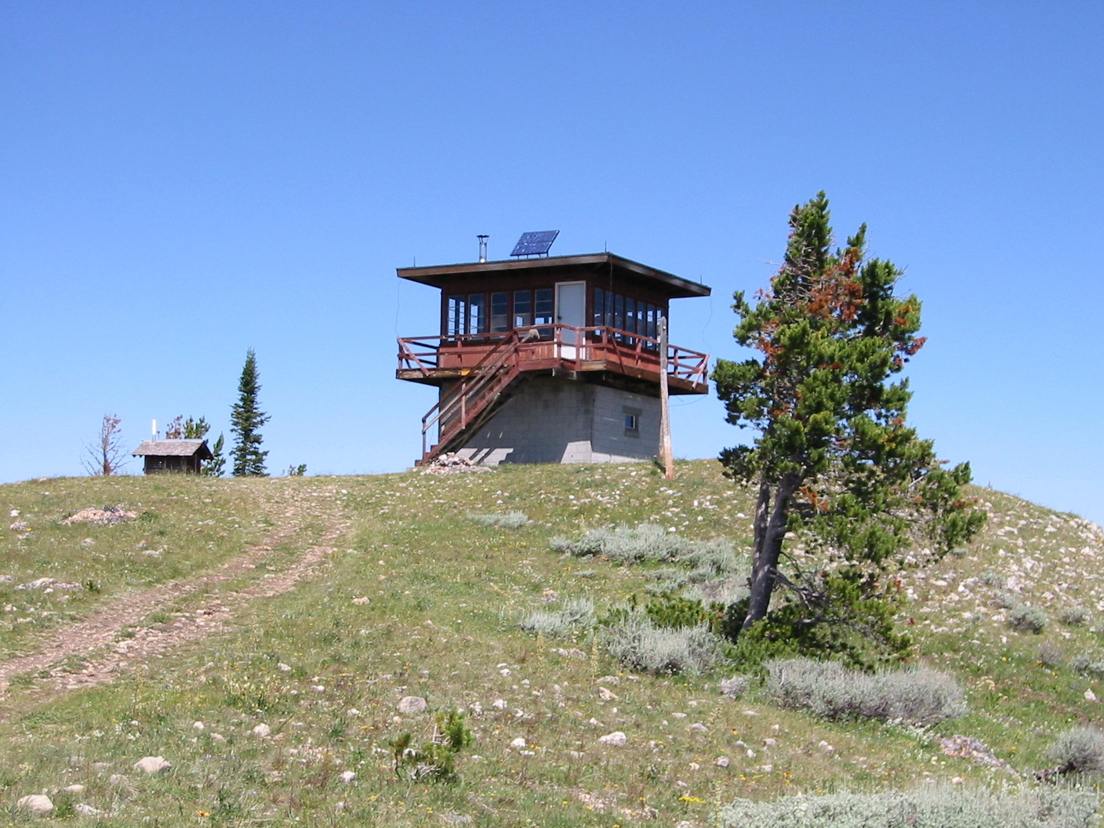photo: Garnet Mountain fire lookout, now a rental cabin. Photo by USDA Forest Service.