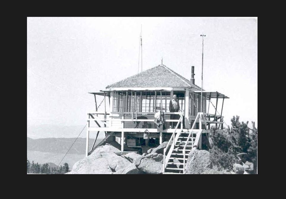 photo: Haystack Mtn.  Lookout built in 1936. Photo by USFS.