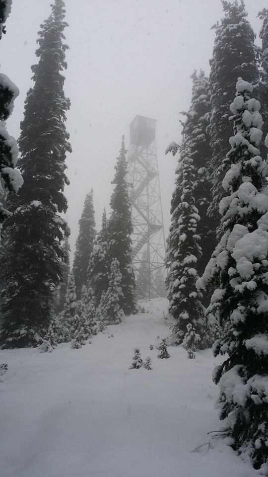photo: Quartz Mountain Fire Lookout in Winter. Photo by USFS.