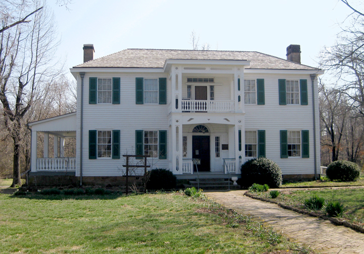 photo: Murrell Home. Built in 1844-45 by George M. Murrell for his wife Minerva Ross. Photo by Uyvsdi/wiki.