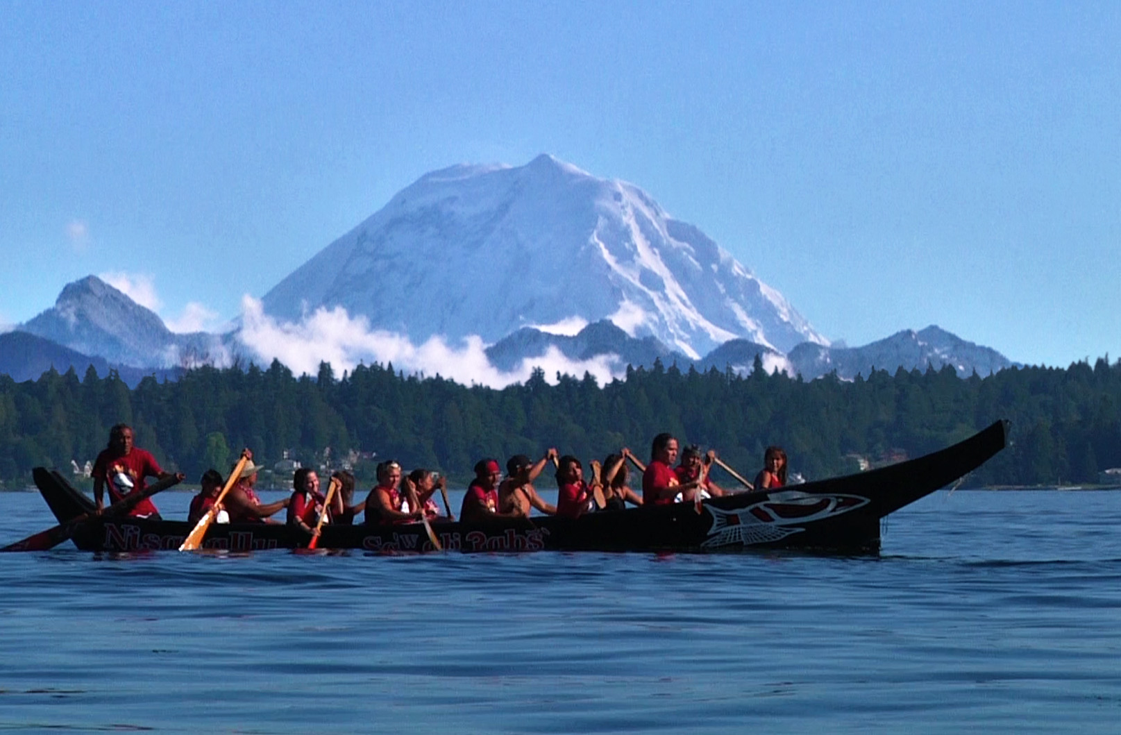 photo: Nisqually Tribal Canoe Journey. Photo by Rich Deline.