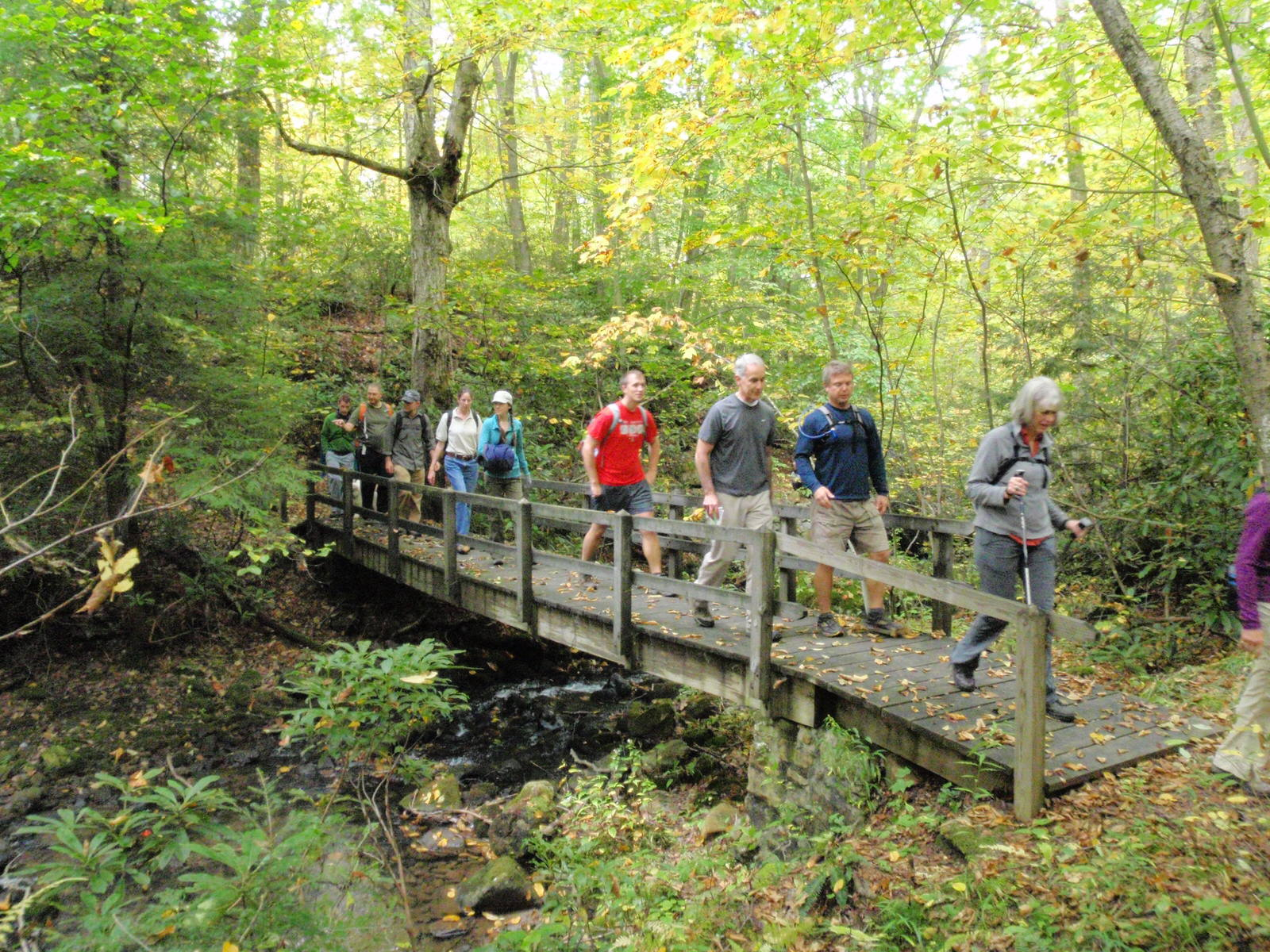 photo: On the trail. Photo by Western Penn. Conservancy.