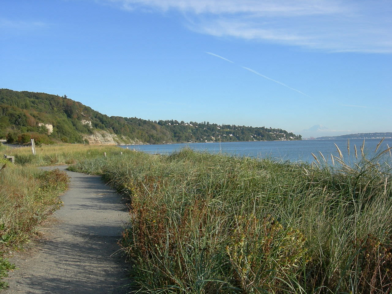 photo: Path along the south beach of Discovery Park. Photo by Joe Mabel/wiki.