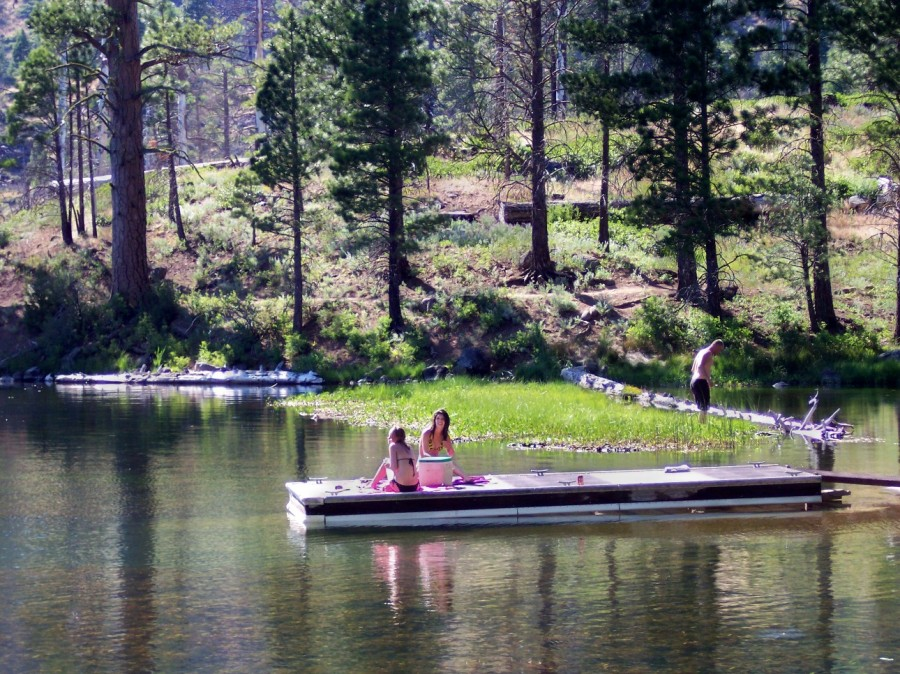 photo: Modoc National Forest - Blue Lake Boating Site. Photo by USFS.